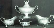 18th Century English Silver Sauce Boats, Magic Lantern Glass Slide