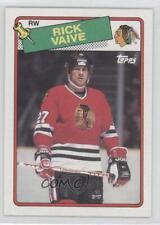 1988-89 Topps #77 Rick Vaive Chicago Blackhawks Hockey Card