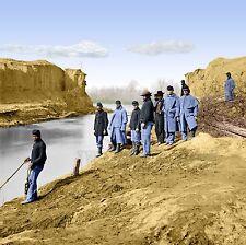 View  Dutch Gap Canal African Americans Va Color Tinted photo Civil War 02036