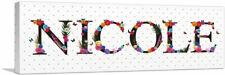 ARTCANVAS NICOLE Girls Name Room Decor Canvas Art Print