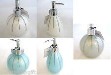 Bella Lux Blanco + Cristal Azul Acrílico Esfera, Forma Pera Jabón + Loción