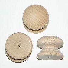 """Confezione da 100 piccole 25mm (1 """") FORATO Vittoriano Stile FAGGIO Manopole Maniglie Legno"""