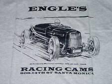 T shirt Hot rod Engles Santa Monica white salt flat drag race land speed racer