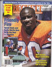 FOOTBALL BECKETT MONTHLY MARCH 1997 ISSUE #84 TERRELL DAVIS / TERRY GLENN