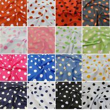 Polycotton Fabric 26mm Polka Dots Spots Spotty Craft Dress Kids