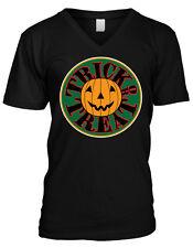 Trick or Treat Jack-o-Lantern - Happy Haloween  Mens V-neck T-shirt