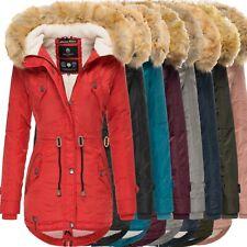 Navahoo La Viva Damen Winter Jacke Stepp Parka Mantel Teddyfell warm gefüttert