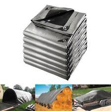 Heavy Duty Tarpaulin Waterproof Heat Reflective Tarp Camping Sheet Outdoor Cover