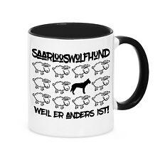Tasse BLACK SHEEP - SAARLOOSWOLFHUND WOLFSHUND - Schaf Kaffebecher Siviwonder