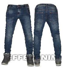 Jeans Uomo Denim Pantaloni Slim Elasticizzati Taschino 5 Tasche Nuovo 157