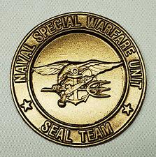 USN US NAVY SEAL TEAM NAVAL SPECIAL WARFARE UNIT INSIGNIA CREST AWARD PLAQUE