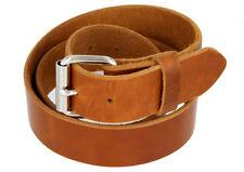 """Full Grain One Piece Heavy Duty Leather Belt, 1-1/2"""" Wide"""