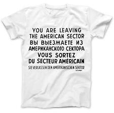 Checkpoint Charlie Berlín Camiseta 100% Algodón Premium Segunda Guerra Mundial el comunismo