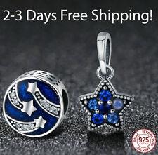 Sparking Cz Beads fit Original Bracelet S925 Sterling Silver Charm Shining Star