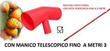 RACCOGLI FICHI D'INDIA CON MANICO TELESCOPICO ALLUNGABILE COGLIFRUTTA RACCOLTA F