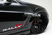 RALLY Sport Decal Sticker racing car stripe auto emblem logo motorsport 2PC PAIR