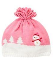 GYMBOREE COZY CUTIE PINK SNOWMAN SWEATER HAT 12 24 2T-3T NWT