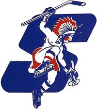 Springfield Indians 1975-1979 Logo AHL Hockey Mens Polo XS-6XL, LT-4XLT New