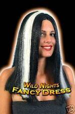 HALLOWEEN FANCY DRESS WIG # WITCH/VAMPIRA GLOW STREAKS