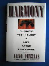 Harmony by Nobel Prize in Physics Arno Penzias SIGNED 1st/1st 1995 HCDJ