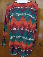 Denim & Supply women's green orange multi-color sweater New