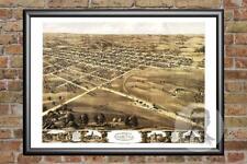 Old Map of Palmyra, MO from 1869 - Vintage Missouri Art, Historic Decor