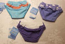 BABY TODDLERS GIRL WHITE SODA REUSABLE SWIM NAPPY PANT SWIMWEAR RRP$35.95