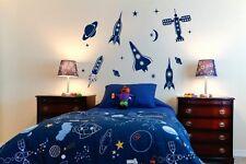 Set Grande Di i razzi spaziali, pianeti e stelle-Kids stanza Adesivo Parete Decalcomania UK