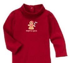 Gymboree Gingerbread Girl Turtleneck Red Bodysuit Tee Shirt Top Size 2T-3T