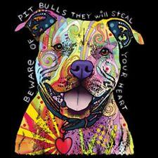 Beware of Pitbulls    Neon/Blacklight   Dog Tshirt   Sizes/Colors