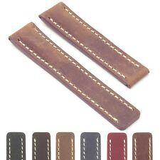 DASSARI Venture Distressed Italian Leather Watch  Strap for BREITLING