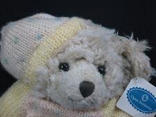 New Yellow Knit Sweater Open Invitation Russ Plush Teddy Bear Winter Holiday