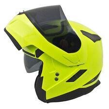 MT Flux Flip Front DVS Motorbike Motorcycle Helmet Sharp 4* Pinlock Ready Fluo