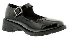 Neuf Fille Adolescente / Enfants Motif Noir Boucle de Fermeture Chaussures Mode