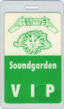 METALLICA SOUNDGARDEN 1991 Laminated Backstage Pass Chris Cornell