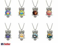 Chain Necklace Cartoon Novelty Jewelry Women's Girls Owl Pendant Long