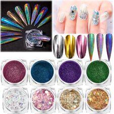 Holographic Nails Mirror Powder Glitter Dust Nail Art Shiny Chrome Pigment DIY