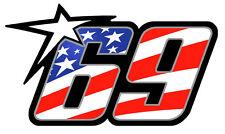 NUMERO 69 COURSE RACING NUMBER MOTO GP HAYDEN USA AUTOCOLLANT STICKER NU004