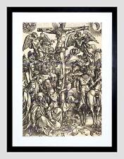 86025 ALBRECHT DURER GERMAN CRUCIFIXION BLACK FRAME Decor WALL PRINT POSTER FR