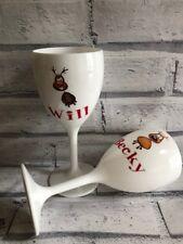 Personalised Christmas reindeer 11oz polycarbonate Wine Glass 312ml gift idea