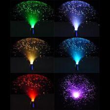 UK Led Fibre Optic Light Lamp Changing Fountain Night Relaxing Calming Novelty