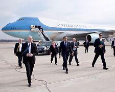President Barack Obama departs Air Force One in Columbus Ohio Photo Print