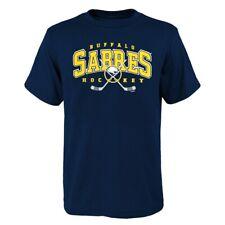Buffalo Sabres Outerstuff NHL Youth Navy Blue Hockey Sticks T-Shirt
