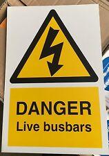 Warning Sign - DANGER Live busbars - 300 x 200mm Safety Signs