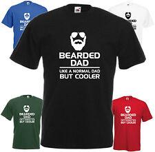Bearded Dad Like Normal Dad T Shirt Tee Xmas Gift Top Slogan Beard Fathers Day