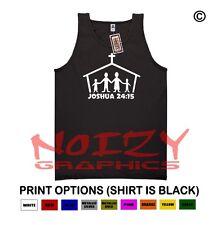 Joshua 24:15 Christian TANK TOP Jesus Religious Black Shirt Family Church Serve