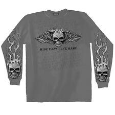 Maglietta maniche lunghe GRAZIAN MOTOCICLISTA CHOPPER gothicmotiv modello RIDE