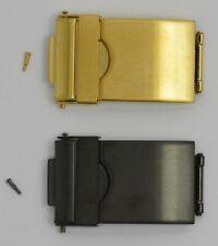 Reloj Pulsera Correa Hebilla Broche 3 Fold seguridad Oro Plateado O Negro Pvd 12-22mm