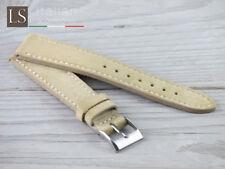 18 20 22 Genuine Italian Suede Leather LS SUEDE CUCITO Vintage Watch Strap Straw