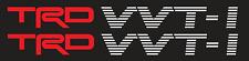 TRD VVTI Doch vinyl Sticker Decals - VVTI TRD - SET of 2